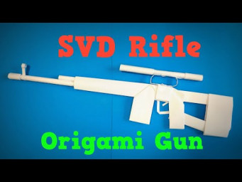 Origami Gun | How to Make a Paper SVD Dragunov Sniper Rifle | Easy Origami ART Paper Crafts