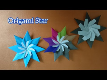Origami 8-Point Star with Windmill 折纸八角星