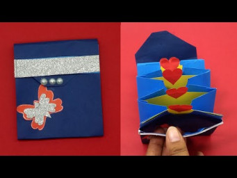Easy Paper Purse Origami | How To Make Paper Handbag | Origami Paper Bag Tutorial | School Hacks