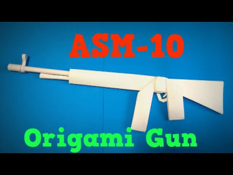 Origami Gun | How to Make a Paper ASM10 Gun COD Mobile | Easy Origami ART Paper Crafts