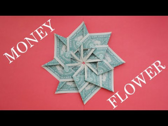 Cute MONEY FLOWER | Modular Dollar Origami | Decoration for your room | Tutorial DIY by NProkuda