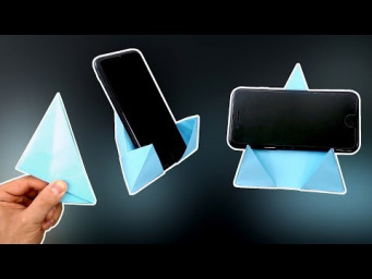 DIY - Origami Phone Stand/Holder 4.0 - Vertical and Horizontal! @Easy Origami & Crafts