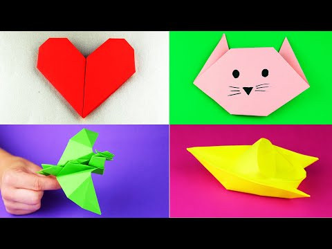 10 easy origami and paper crafts ideas