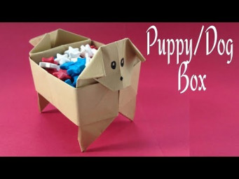 How To Make Paper Dog Box Tutorial - Origami Dog Box Puppy Easy  | Creative DIY