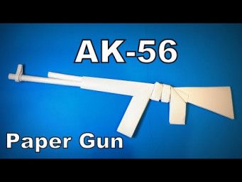 Origami Gun | How to Make a Paper Gun AK56 DIY | Easy Origami ART Paper Crafts