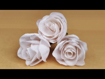 DIY How to Make Paper Roses | Rose Flower From Paper | Crepe Paper Roses