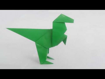 Как сделать динозавра из бумаги, How to make a paper dinosaur