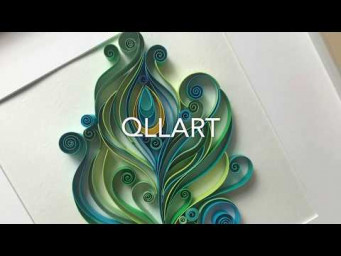 QllArt | Quilled peacock feather | How to make | Рисуем павлинье перо | Квиллинг