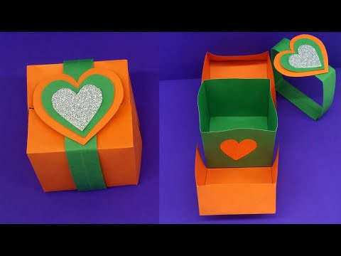 DIY Paper Gift Box / How to make Gift Box ? Easy Paper Crafts Idea / Handmade Gift Box
