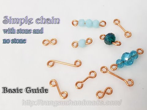 How to make simple chain with stone and no stone - Basic Guide 526