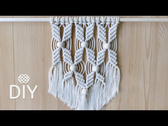Easy Macrame Wall Hanging | Flower Pattern with Beads | DIY