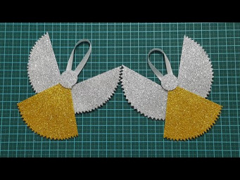 How To Make Paper Angel For Christmas | DIY Christmas Angel With Glitter Foam