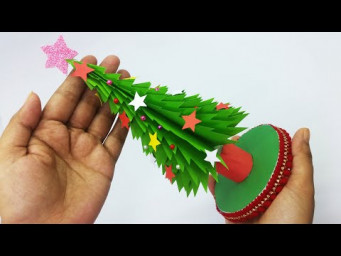 3D Paper Christmas Tree | How to Make a Paper Xmas Tree DIY Tutorial | Christmas Decor