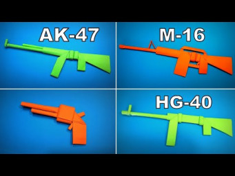 Origami Gun | How to Make a Paper Gun AK47/ M16/ HG40/ Bow | Easy Origami ART Paper Crafts