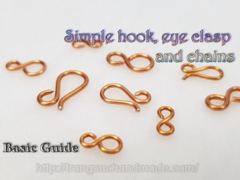Simple hook, eye clasp and chains from copper wire - Basic Guide 520