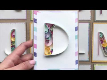 QllArt | Letter D in quilling technique | Квиллинг буква D