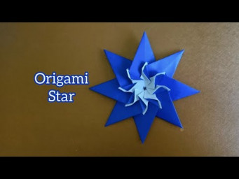 Origami 8-Point Star with The Sun 折纸八角星