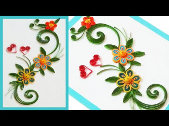 How to make Birthday Card//Handmade Birthday Card | Paper Quilling Art