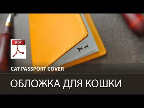 Обложка на паспорт кошки с окошком под фотографию / Cat passport cover
