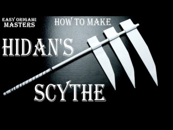 How to make Hidan's Scythe from paper. Design by - (Easy Origami Masters)