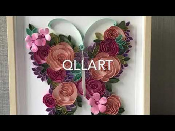 Quilling BUTTERFLY | QllArt | How to draw butterflies | Paper Art tutorial | Цветочная бабочка