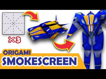 How to make a Transforming AUTOBOT SMOKESCREEN Origami Transformer