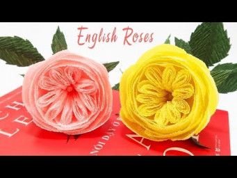 How To Make Paper Rose English Flower From Crepe Paper Tutorial | Crepe Paper Flowers | Creative DIY