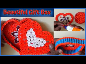 Gift Box Making Ideas With Paper | How To Make Heart Shaped Gift Box