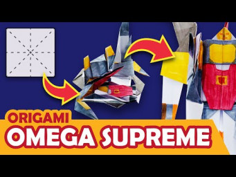 How to make a Transforming Autobot OMEGA SUPREME Origami Transformer