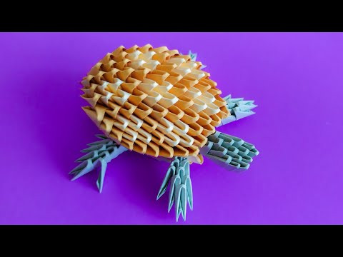 How to make a 3D origami Turtle