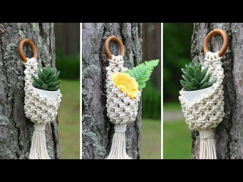 DIY MACRAME POT HANGER | PLANT HANGER | WALL BASKET | PLANT HOLDER