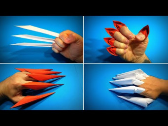 Origami Claws | How to Make a Paper Claws Halloween | Wolverine Claws | Easy Origami ART