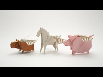 ORIGAMI WINGS FOR PEGASUS, CAPIVARA CARTEIRA ETC (Jo Nakashima)