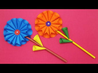 Beautiful Paper Flower Making Tutorial || Paper Craft For Home Decoration || DIY Paper Flowers
