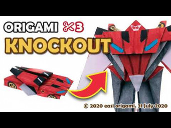 Transforming a DECEPTICON KNOCKOUT Origami Transformer
