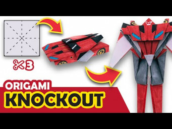 How to make a Transforming DECEPTICON Knockout Origami Transformer