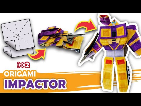 How to make a Transforming Decepticon IMPACTOR Origami Transformer