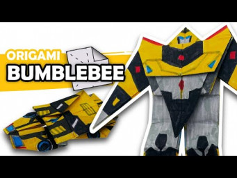 How to make a Transforming AUTOBOT BUMBLEBEE Origami Transformer