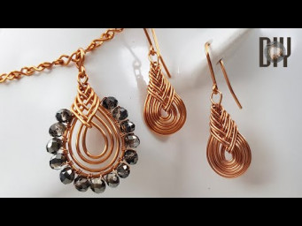 Pipa Knot | Earrings | Pendant | Chinese Macrame knot | How to make | Wire Jewelry | DIY 580