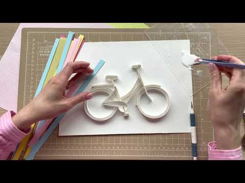 Quilled bike! How to draw bicycle from paper strips? Quilling Paper Art / Квиллинг велосипед