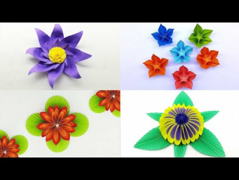 4 Beautiful Paper Flowers Best Collection Paper Flower Room Decoration Ideas DIY Crafts