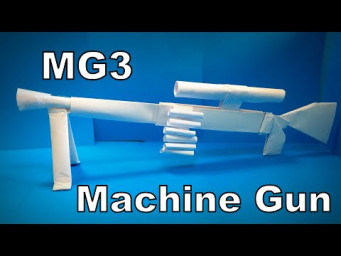 Origami Gun | How to Make a Paper MG3 Machine Gun PUBG Mobile | Easy Origami ART Paper Crafts