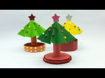 Paper Christmas Tree | How to Make a 3D Paper Xmas Tree | DIY Christmas Decoration Ideas