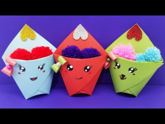 Easy Origami Paper Gift Idea /Cute Gift Idea /Origami mini gift /Origami Craft With Color Paper /DIY