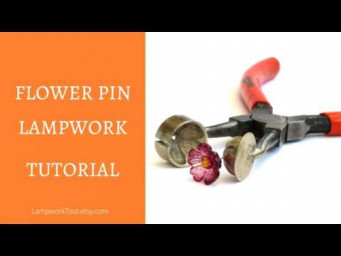 How to make flower pin - Lampwork tutorial