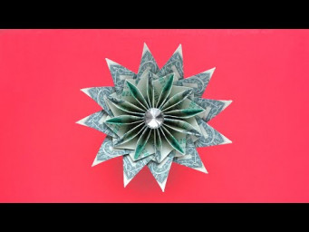 Gorgeous MONEY FLOWER | Modular Dollar Origami | Idea for Graduation | Tutorial DIY by NProkuda