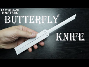Butterfly knife out of paper