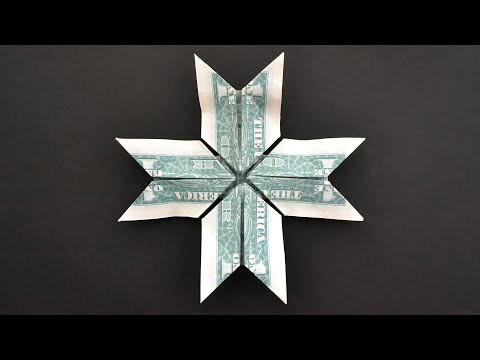 My MONEY 8 POINTED STAR / CROSS | Modular Dollar Origami | Tutorial DIY by NProkuda
