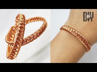Braided bracelets | thick bangles | Unisex | How to make | Wire jewelry | Handmade | DIY 574