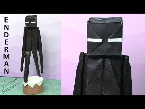 How to fold Enderman - Minecraft Origami Tutorial